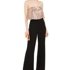 Adrianna Papell Sequin Popover Jumpsuit Size 4